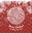 Vintage Christmas card with Christmas Ball vector image