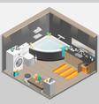 Bathroom Isometric vector image