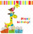 Children birthday scrapbook card vector image vector image