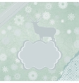 Christmas reindeer card template vector image vector image