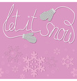 mittens snow vector image