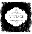 vintage black and white card template vector image