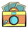 retro camera icon cartoon vector image
