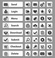 web design buttons set vector image vector image
