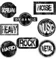 rubber stamps with musical concept vector image vector image