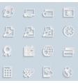 Paper Seo Icons Vol 3 vector image