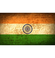 Flags India with dirty paper texture vector image
