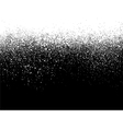 sprayed paint gradient detail in white over black vector image