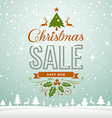 Merry Christmas sale winter greeting card vector image vector image