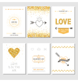 Set of Love Cards - Wedding Valentines Day vector image