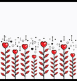 creative valentines plant design vector image