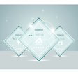 Eps10 glass transparent web box vector image vector image