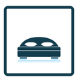 Hotel bed icon vector image