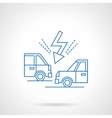 Accident on road flat line icon vector image