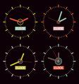 Clock on Black Background vector image