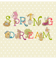 Colorful Spring Text vector image