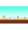 Desert cartoon game background vector image
