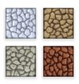 Game Stone Texture Set Vintage Retro Cartoon Style vector image