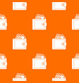 purse with money pattern seamless vector image