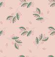 Seamless Botanical Pattern vector image