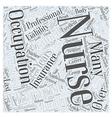 Nurses Enhance Therapists Occupations Word Cloud vector image