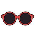 female sunglasses isolated icon vector image
