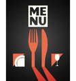 menu design food drink dishes concept vector image vector image