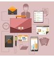 Modern business management elements vector image
