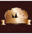 golden wine label design element vector image