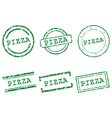 Pizza stamps vector image vector image