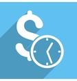 Dollar Credit Long Shadow Square Icon vector image