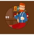 Man sitting at the bar counter vector image