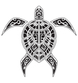 Turtles tattoo for your design vector image