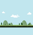 beauty scenery with hill for game background vector image