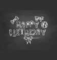 birthday typography template vector image