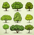 Cartoon deciduous trees vector image