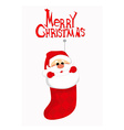 Cute Santa Claus in socks vector image