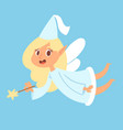 fairy cute girl princess character adorable vector image