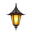Medieval lamp isolated on white vector image