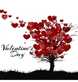 Valentines Day Greeting Card Tree Of Love vector image