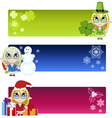 Little elf banners vector image vector image