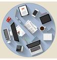 Modern flat design brainstorming and teamwork vector image