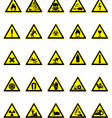 hazard icon set vector image vector image