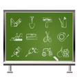 chalk icons vector image vector image
