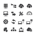 FTP Hosting Icons vector image