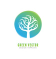 tree logo concept and design element vector image