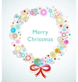 christmas wreath card template vector image vector image
