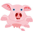 drawing piglet on white background vector image