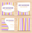 girly invitation card template simple stripe color vector image