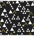 Gold geometric triangle seamless pattern On black vector image
